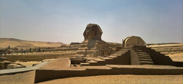 The Great Sphinx of Giza on the Giza Plateau. (VEGANESTON/CC BY SA 4.0)
