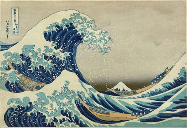 'The Great Wave off Kanagawa' (c.1830-1833) by Hokusai.