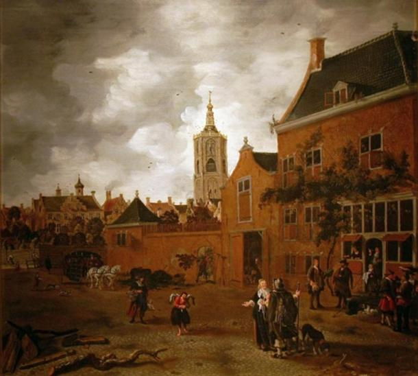 Street in The Hague by Sybrand van Beest.