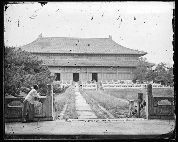 The Hall of Eminent Favor of the Changling Tomb, (1871) Changping, China