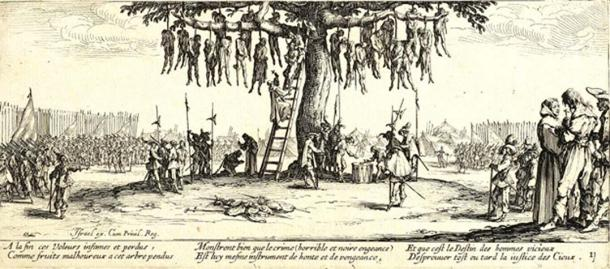 The Hanging by Jacques Callot, 1631