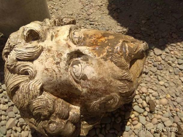 The Head of Roman Emperor Marcus Aurelius that was found in the Temple of Kom Ombo, Aswan. (Image: Egyptian Ministry of Antiquities)