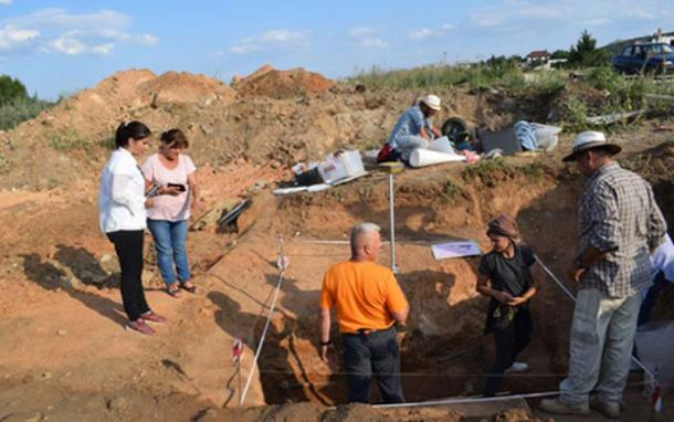 The Hellenistic era tomb found in Kozani. (Ephorate of Antiquities)