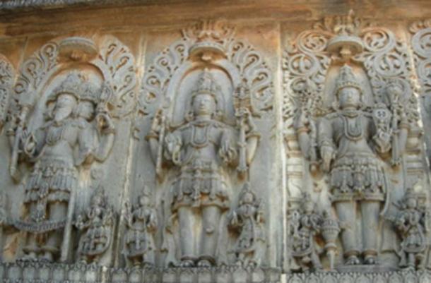 The Hindu Trinity - Brahma, Siva, Vishnu. (Calvinkrishy~commonswiki / CC BY-SA 3.0)