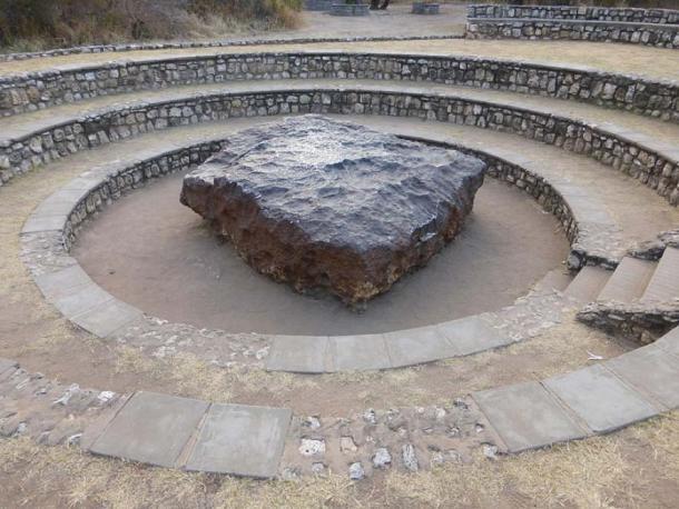 The Hoba meteorite near Grootfontein, Namibia. (Sergio Conti/CC BY SA 2.0)