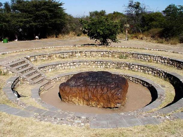The Hoba meteorite is the largest known meteorite found on Earth, as well as the largest naturally-occurring mass of iron known to exist on the earth. The meteorite, named after the Hoba West Farm in Grootfontein, Namibia where it was discovered in 1920, has not been moved since it landed on Earth over 80,000 years ago. (Public Domain)