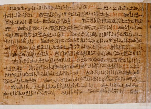 The Ipuwer Papyrus from the late Twelfth Dynasty contains the 'Admonitions of Ipuwer' an incomplete literary work. Rijksmuseum van Oudheden, Leiden.