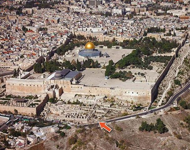 The Isaiah seal was found at Ophel, the location marked on this map, near Temple Mount in Jerusalem.