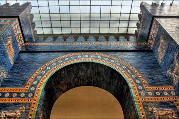 The Ishtar Gate to the city of Babylon, was dedicated to the Mesopotamian goddess. Reconstruction in the Pergamon Museum, Berlin.