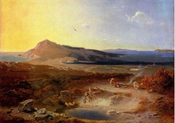 The Island of Delos, by Rottmann