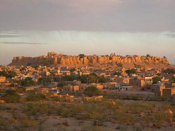 Jaisalmer Fort at sunset.