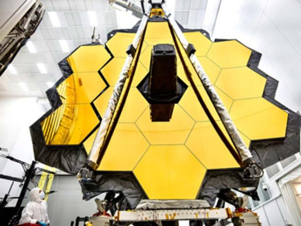 The James Webb Space Telescope is the world's most advanced space observatory. This engineering marvel is designed to unravel some of the greatest mysteries of the universe and will be able to help detect alien life on distant planets. (NASA's James Webb Space Telescope / CC BY-SA 2.0)