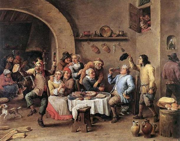 Twelfth-night (The King Drinks) circa 1634.