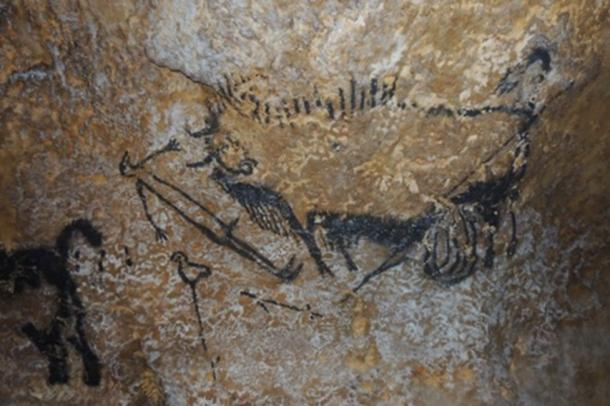 The Lascaux Shaft Scene. (Image courtesy of Alistair Coombs, author supplied)
