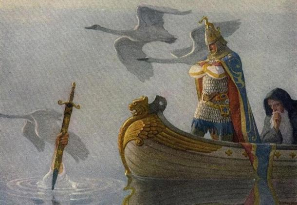 """The Legendary King Arthur: """"And when they came to the sword that the hand held, King Arthur took it up."""""""