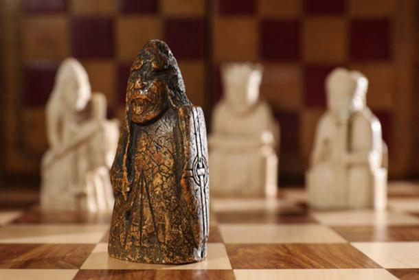The Lewis Chessmen are very popular, and the pieces are on display in Edinburgh and London. (Courtesy of Sotheby's)