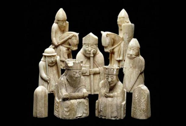 The Lewis chessmen. (Ninox /CC BY NC 2.0) These artifacts provide one of the most stunning examples of Norse carved ivory.