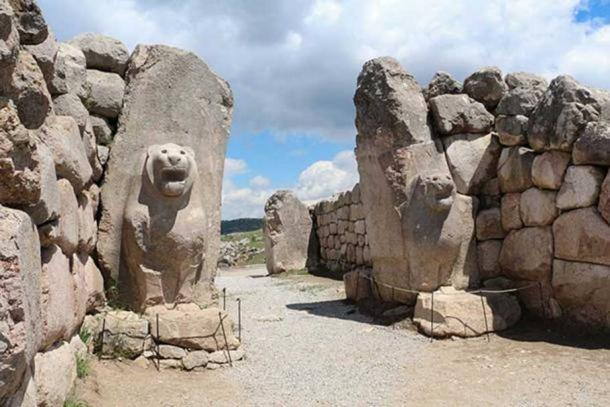 The Lion Gate, Hattusa, Turkey.