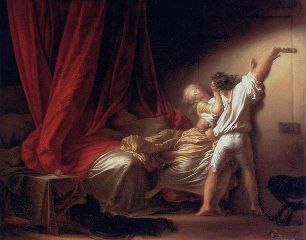 The Lock, Jean-Honore Fragonard, circa 1776-9.