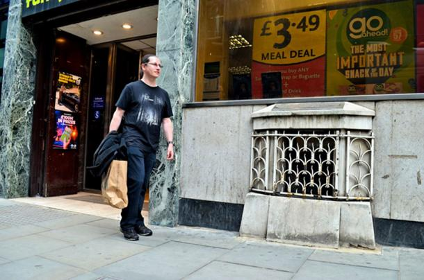 The London Stone was hidden away for years behind an iron grille on a busy city street.