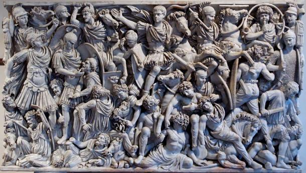 The Ludovisi sarcophagus, which depicts a battle between Romans and Goths in the third century AD. (Public Domain)