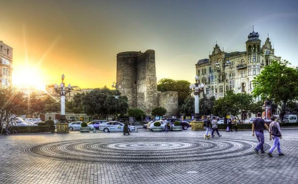The Maiden Tower (Azerbaijani: Qız Qalası), also known locally as Giz Galasi, located in the Old City, Baku, in Azerbaijan