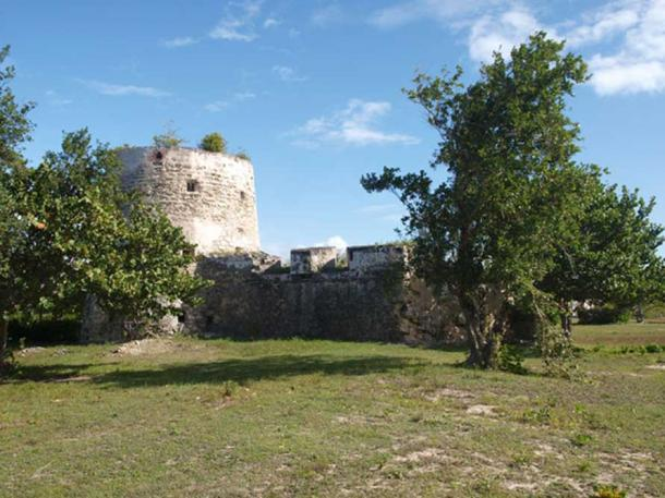 The Martello Tower on Barbuda.
