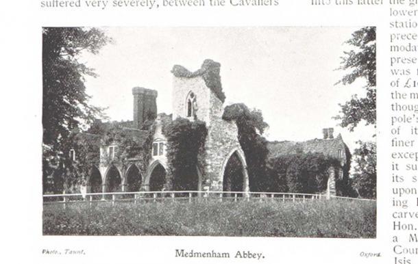 The Medmenham Abby shown in disrepair. (British Library / Public Domain)