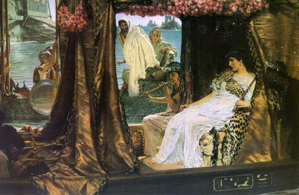 The Meeting of Antony and Cleopatra by Lawrence Alma Tadema