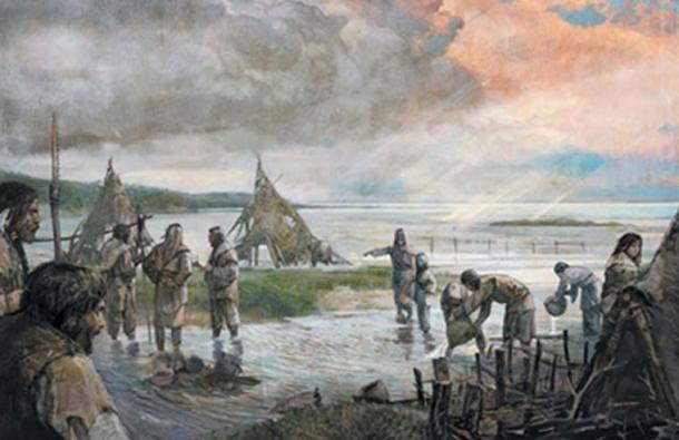 The Mesolithic people of Doggerland. (Alexander Maleev)