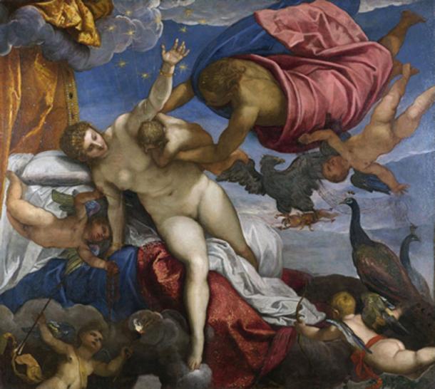 The Milky Way was created when Hera breastfeed Heracles. (Alonso de Mendoza / Public Domain)