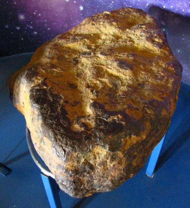 The Muonionalusta meteorite on exhibition in the entrance hall of the National Museum in Prague, Czech Republic, in April 2010.