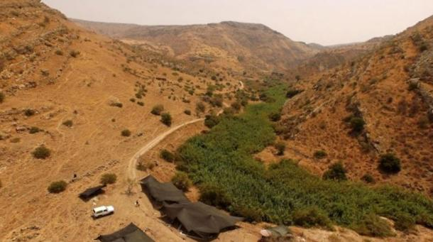 The NEG II site in the Jordan Valley where archaeologists from the Hebrew University have discovered the remains of a 12,000-year-old settlement.