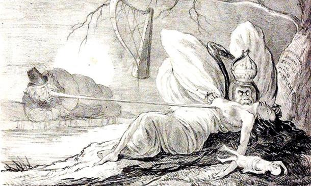 Illustration from 'The Natural History of Two Species of Irish Vampire'