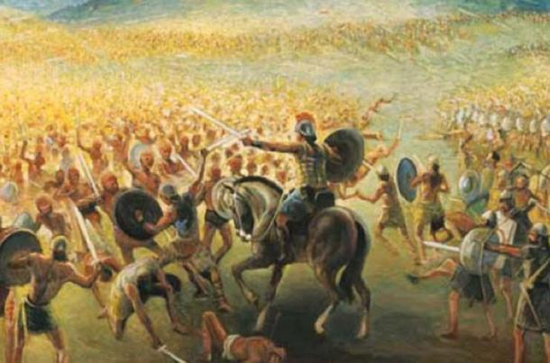 The Nephites and the Lamanites frequently waged war against each other. (Nephicode.com)