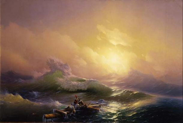'The Ninth Wave' (1850) by Ivan Aivazovsky. (Public Domain) Many of the ancient Greeks believed if one traveled far enough to reach the ends of one of the foreign continents, they would find nothing but an endless ocean.