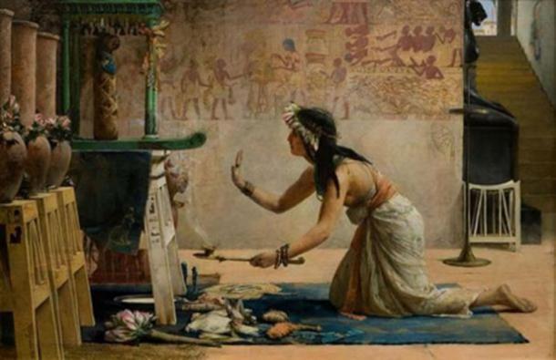 The Obsequies of an Egyptian Cat, John Reinhard Weguelin, 1886. (Public Domain)