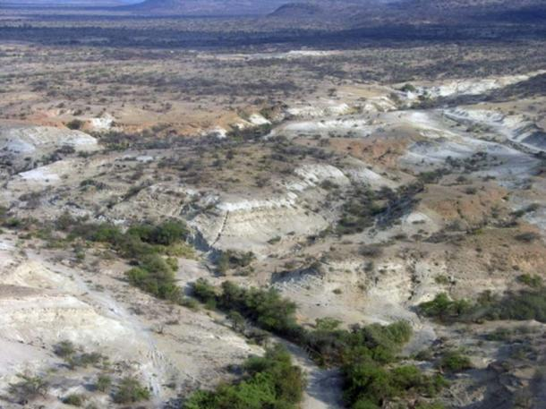 The Olorgesailie Basin in southern Kenya, which holds an archeological record of early human life spanning more than a million years. (Human Origins Program, Ryan Lavery, Smithsonian)