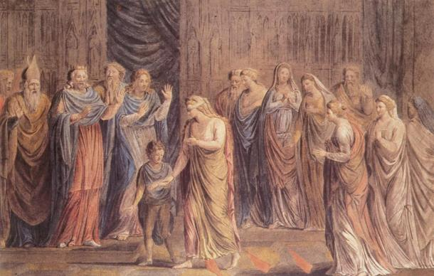 The Ordeal of Queen Emma by William Blake