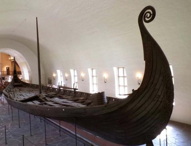 The Oseberg Ship, well-preserved historic ship exhibited in The Viking Ship Museum in Oslo, Norway. (© jobipro via Fotolia)