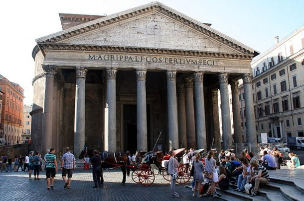 The Pantheon was Agrippa's temple to the pagan gods.