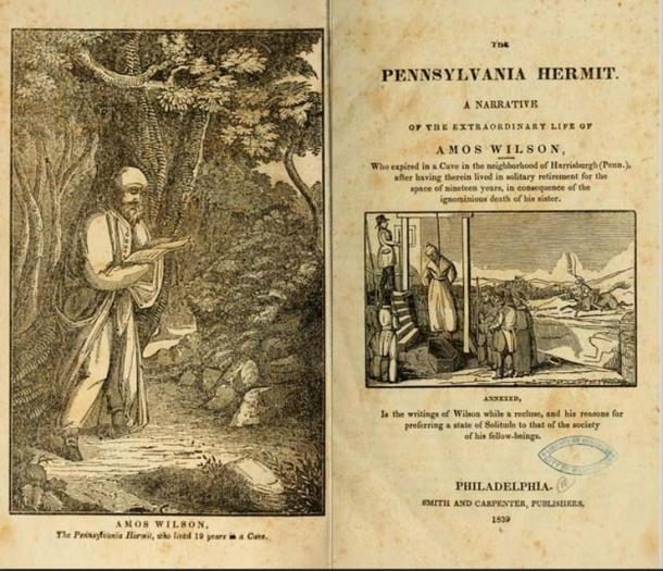 Title page of First edition of 'The Pennsylvania Hermit', 1839