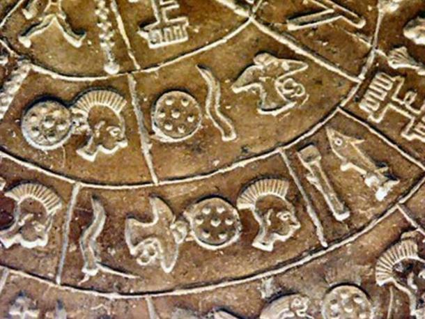 The Phaistos Disc, detail