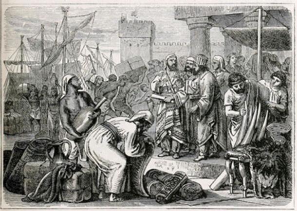 The Phoenicians flourished as marine merchants. (Public Domain)
