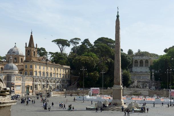 The Piazza del Popolo and the Flaminio Obelisk in Rome. Image: Wolfgang Moroder/CC BY-SA 3.0