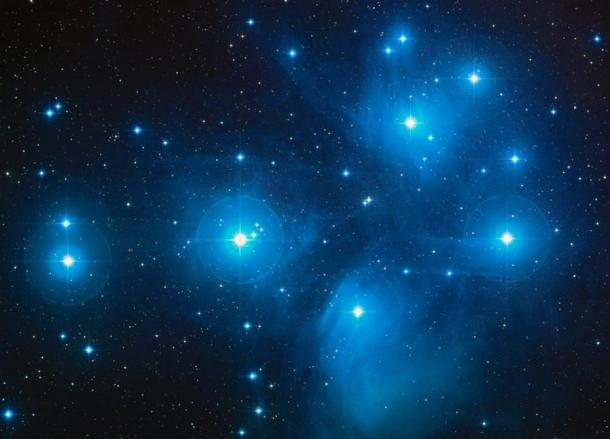 The Pleiades as seen by the Hubble Space Telescope