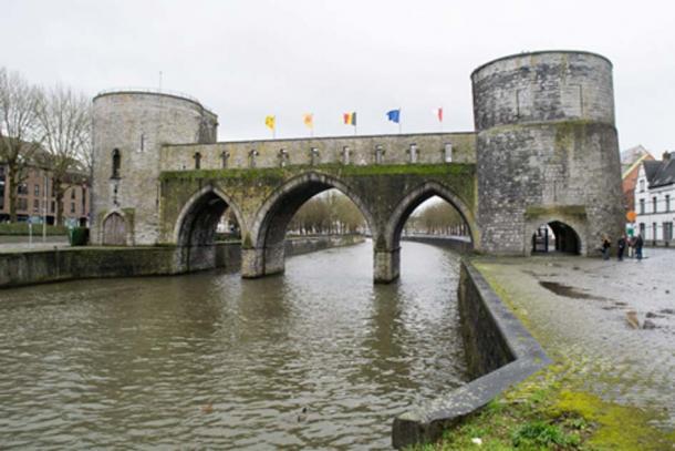 The Pont des Trous over the Scheldt River in Tournai, Belgium. Credit: David Johnston / Adobe Stock