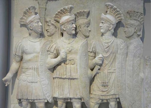 The Praetorians Relief from the Arch of Claudius, once part of the Arch of Claudius erected in 51 AD to commemorate the conquest of Britain. Louvre Lens, France