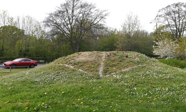 The Prittlewell burial site by the side of a road in Essex, believed to be that of Seaxa brother of King Saebert. (MOLA)