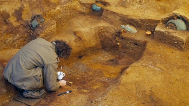 The Prittlewell burial site was discovered in 2003. (MOLA)